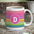 Rainbow Stripes Personalized Coffee Mug
