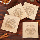 Vintage Brewery Personalized Coaster Bottle Openers