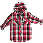 Hoodie Buddie Red Flannel Print Shirt with Headphones