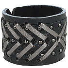 Leather Woven Metallic Bracelet