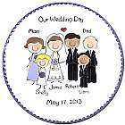 "11"" Wedding Portrait People Plate"