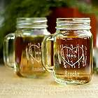 Personalized Woodgrain Love Mason Jar Wedding Favors