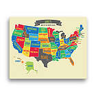 "Boy's Personalized 16"" x 20"" US Map Canvas"