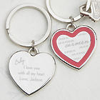 My Sweetheart Personalized Heart Key Chain