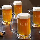 4 Quinton Monogram Custom Beer Mugs