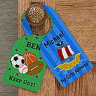Personalized Door Knob Hanger for Boy's Bedroom