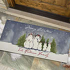 Personalized Snowman Family Large Custom Door Mat