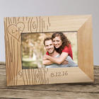 Personalized Couple's Tree Carving Wood Picture Frame