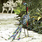 Solar Peacock Garden Statue