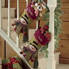 Personalized Snowman Patchwork Stocking