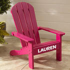 Kid's Personalized Adirondack Chair in Pink