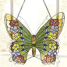 Butterfly Stained Glass Window Panel
