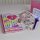 Light-Up Diary with Pen and Stickers