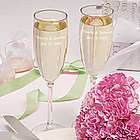 Personalized Simplicity Champagne Flutes