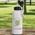 Golf Chick Personalized Aluminum Water Bottle
