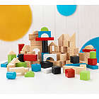 Children's 100-Piece Wooden Building Block Set