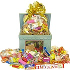 Wooden Recipe Box Full of Retro Candy