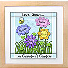 Love Grows Personalized 12x12 Framed Print