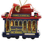 Cable Car Chocolate Ornament