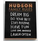 Personalized Family Rules Chalkboard Wall Art