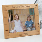 Personalized Daddy Wood Photo Frame