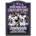 Personalized Baltimore Ravens Super Bowl Tribute Plaque