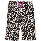 Leopard Printed Girl's Plush Pajama Pants