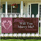Personalized Will You Marry Me Banner