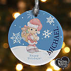 Precious Moments Personalized Santa Ornament