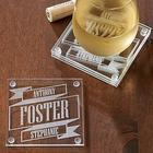 Better Together Personalized Banner Coaster Set