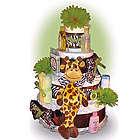 4 Tier Safari Diaper Cake