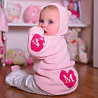 Baby's Hooded Heart Sweater with Initial