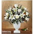Graceful Style White Blooms Arrangement by Southern Living