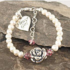 Big Blossom Freshwater Flower Girl Bracelet