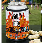 BBQ Grill & Chill Personalized Can Wrap Koozie