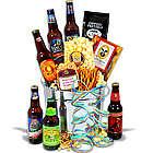 Beer Sampler and Honey Mustard Popcorn Gift Basket