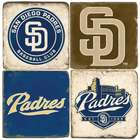 San Diego Padres Italian Marble Coasters with Wrought Iron Holder