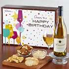 Happy Birthday! White Wine and Gourmet Gift Box