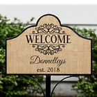 Personalized Welcome Magnetic Sign