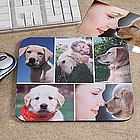 Personalized Pet Photo Collage� Mouse Pad- Horizontal