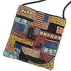 Petra Mosaic Beaded Crossbody Bag
