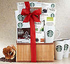 Starbucks Assortment Gift Basket with 2 Coffee Mugs
