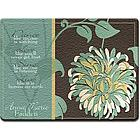 Personalized Chrysanthemum Glass Cutting Board