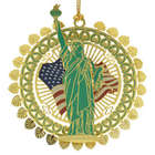 Statue of Liberty Gold Plated Ornament
