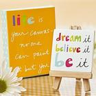 Life is Your Canvas MIni Art Print