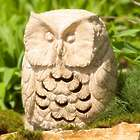 Volcanic Ash Owl Garden Statue