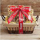 Nut and Snack Baskets with Valentine's Day Ribbon