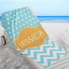 Preppy Chic Personalized Beach Towel