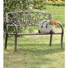 Blooming Metal Garden Bench