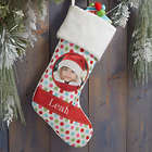 Custom Photo Polka Dot Christmas Stocking